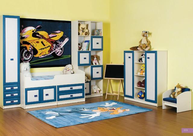 Детская комната Твинс, вариант 1 (цвет джинс)