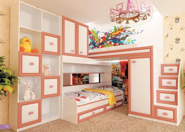 Детская комната Твинс, вариант 2 (цвет лосось каролина)