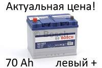 Аккумулятор Bosch S4 70 Ah 0092S40270 Пусковой ток 630 A, Левый +, Размеры на картинке