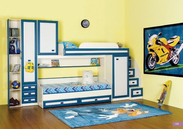 Детская комната Твинс, вариант 3 (цвет джинс)