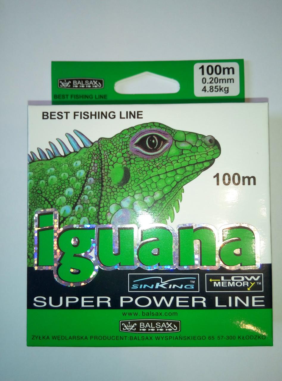 Леска рыболовная IGUANA 100m  (0.18mm  3.8kg)