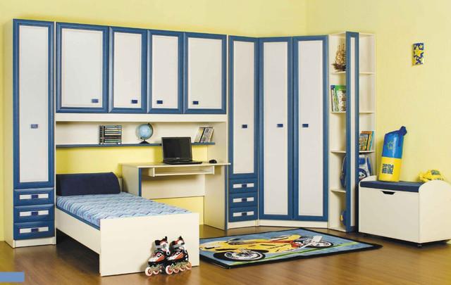Детская комната Твинс, вариант 4 (цвет джинс)