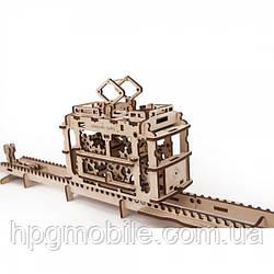 Механический 3D-пазл UGEARS - Трамвайчик