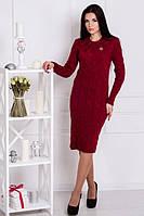 Платье вязанное Зигзаг (5 цветов), теплое платье, фото 1
