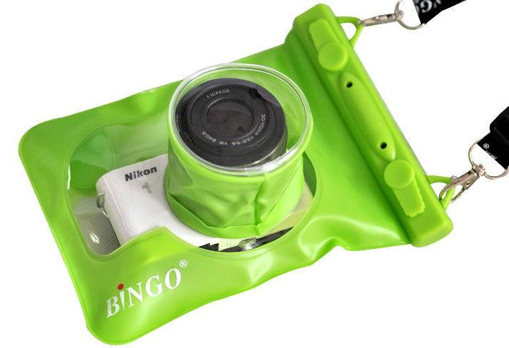 Водонепроницаемый аквабокс для фотоаппаратов Bingo зелёный