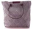 Сумка из текстиля женская пляжная Grey beach bag 1, серая, фото 2