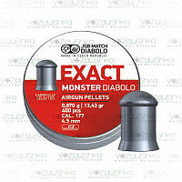Пули JSB Exact Monster Diabolo 0,87 г 4,52 мм 400 шт/уп