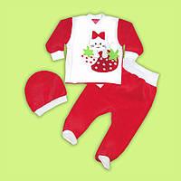 Нарядный и очень стильный детский костюмчик на каждый день Клубничка 62-74