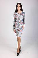 Женское платья футляр в модный цветочный принт