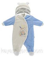 Человечки для новорожденных велюровые на меху. Код 1426Kay. 0-5мес.В наличии 62,68. Рост