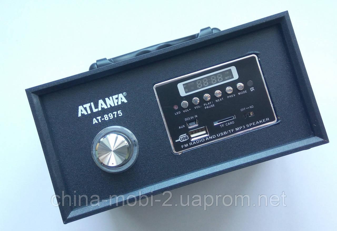 Акустическая колонка  Atlanfa AT-8975, MP3/SD/USB/FM/, black