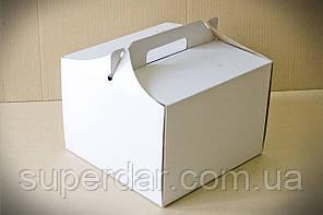 Коробка для торта, 255х255х185 мм, біла