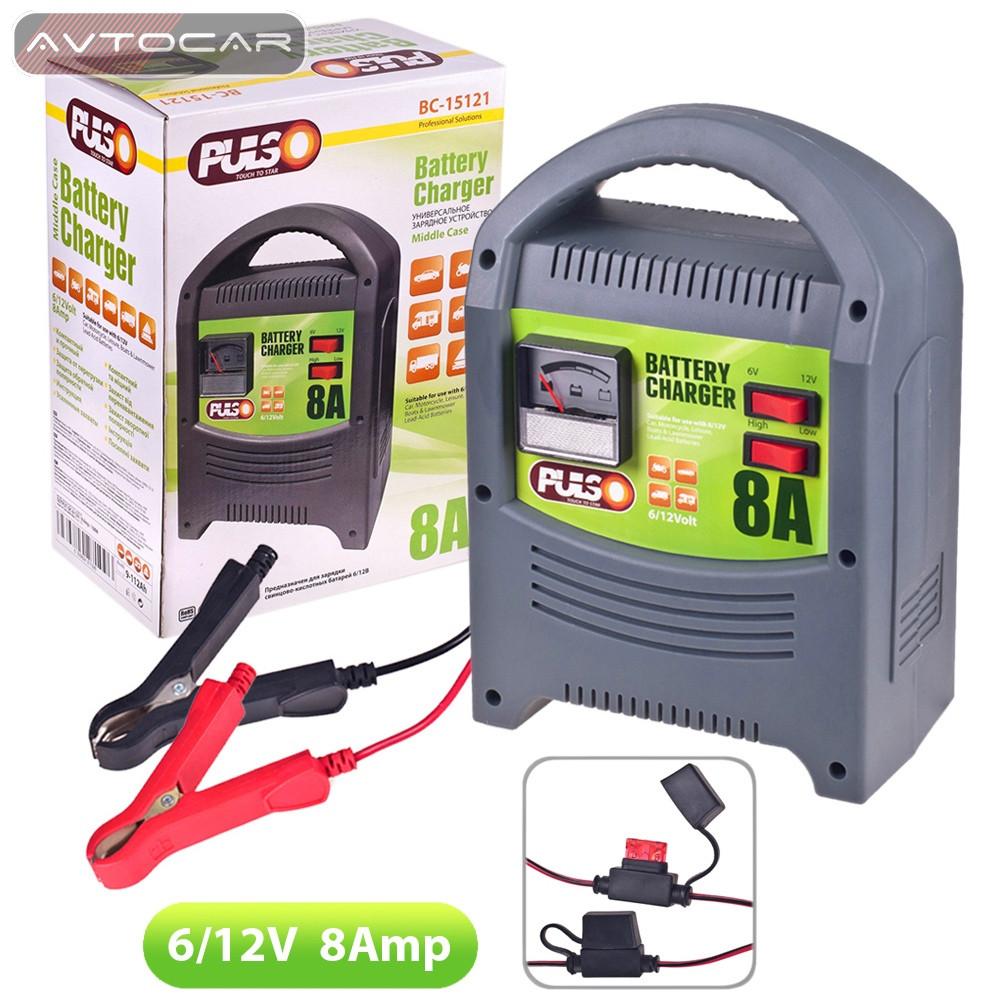 Зарядное устройство PULSO 6-12V 8A 9-112AHR стрелочная индикация BC-15121