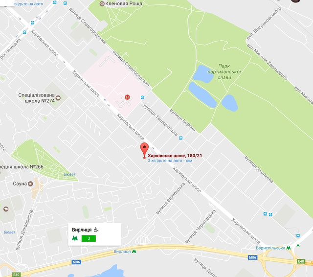 Расположение дома на карте