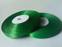 Лента атласная зеленая 0.9см