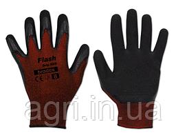 Перчатки рабочие  FLASH GRIP RED латекс, размер 8