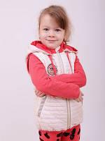 Весенняя курточка-жилет для девочек от 3 до 6 лет, разные цвета