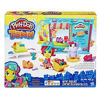 Игровой набор Play-Doh Город Магазинчик домашних питомцев (B3418). Оригинал Hasbro