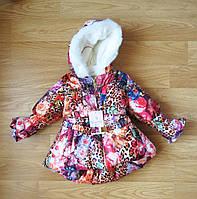 Детское пальто для девочки зима Mesutto Турция (рост 80, 92, 104, 110, 116 см)