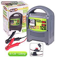 Зарядное устройство PULSO 6-12V / 12A/9-160AHR / стрелочная индикация, фото 1