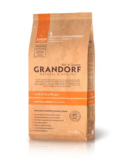 Grandorf Junior - ягненок с рисом для юниоров  3 кг