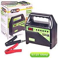 Зарядное устройство PULSO 6-12V / 6A / 15-80AHR / светодиодная индикация