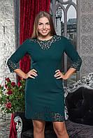 Шикарное платье с перфорацией больших размеров 50 до 60 с перфорацией