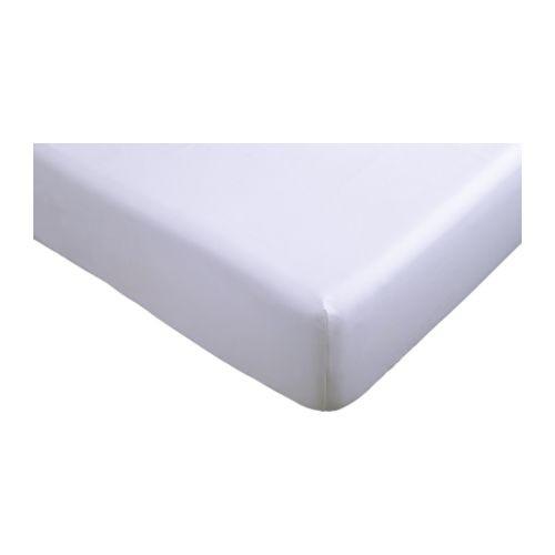 """IKEA """"БАКНЕЙЛИКА"""" Простыня натяжная, белый, 90x200 см"""