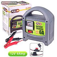 Зарядное устройство PULSO 12V / 6A / 20-80AHR / стрелочная индикация