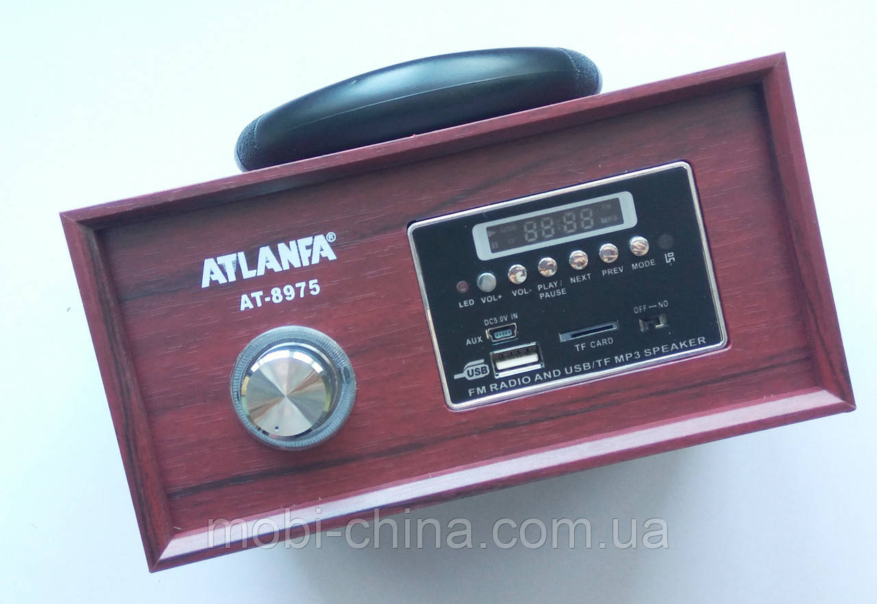 Акустика Atlanfa AT-8975, MP3 SD USB FM , red