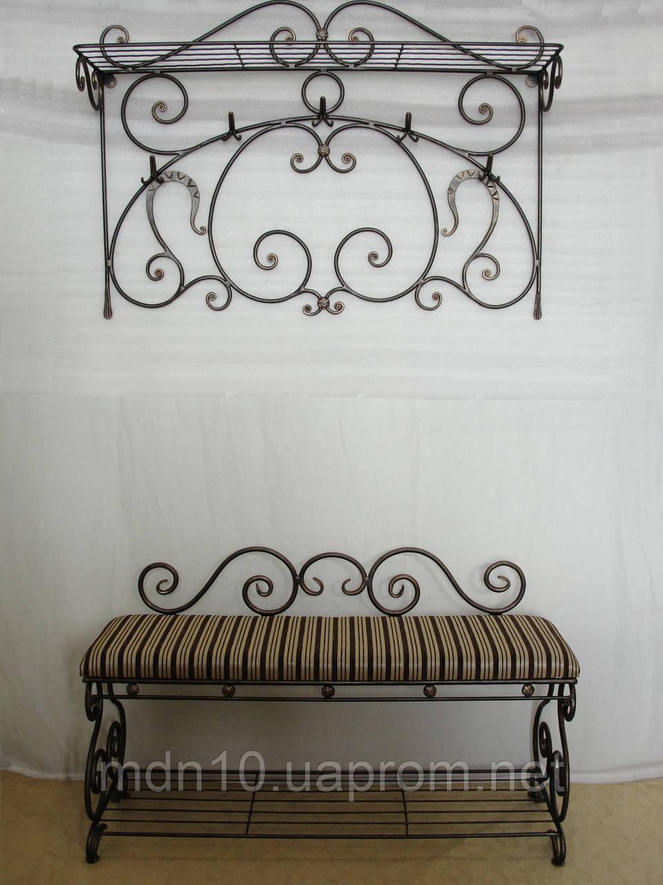 Кованый набор мебели в прихожую - 02