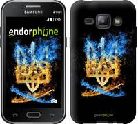 "Чехол на Samsung Galaxy J1 J100H Герб ""1635c-104"""
