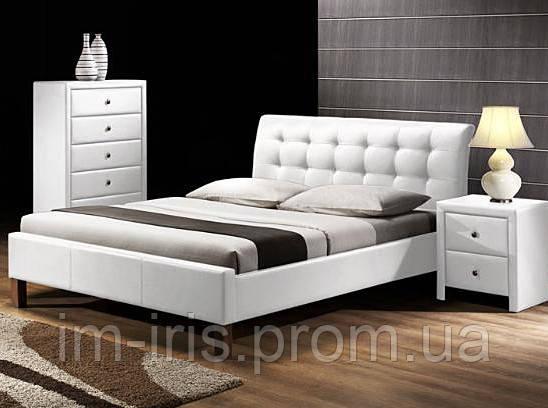 кровать Halmar Samara белая экокожа цена 6 876 грн купить луцьк