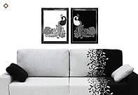 Схема для вышивки бисером диптиха СЛТ-2211. ЦАРСКИЕ ПАВЛИНЫ