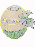 Стильная салфеточка в форме пасхального яичка