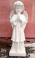 Памятники скульптуры. Скульптура Ангела молящегося №23 белый бетон 68 см