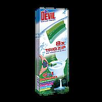 Самоклеющий туалетный блок Trio zip 6в1 Dr. Devil Природна свіжість (6886)