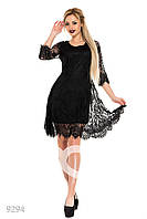 Кружевное вечернее платье с подкладкой
