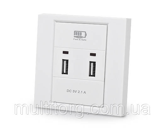 Розетка з USB зарядкою REAL-EL CW-202