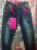 """Детские джинсы на девочку """"Бантики"""" 116р"""