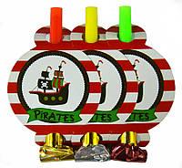 """Язычок-гудок карнавальный """"Пираты"""""""