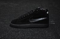 "Кроссовки Nike Blazer CDG ""Triple Black"""