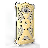 Чехол накладка бампер Simon Thor для Samsung J3 2016 J320 золотистый