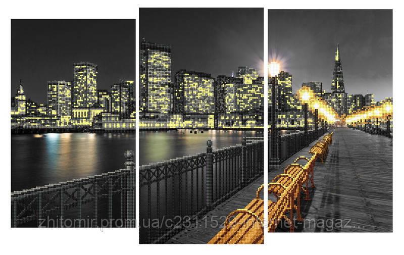 Вышивка ночной город бисером