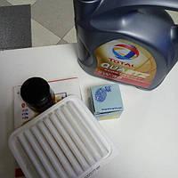 Комплект фильтров + масло моторное синтетическое 5W40 4L Geely MK/MK2/MK Cross