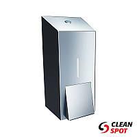 Дозатор для мыла жидкого наливной 400 мл. полированная нержавеющая сталь