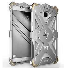 Чехол накладка бампер Simon Thor для Samsung C7 серебристый