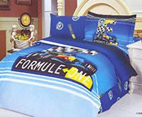 Комплект постельного белья  le vele сатин размер полуторный formula blue