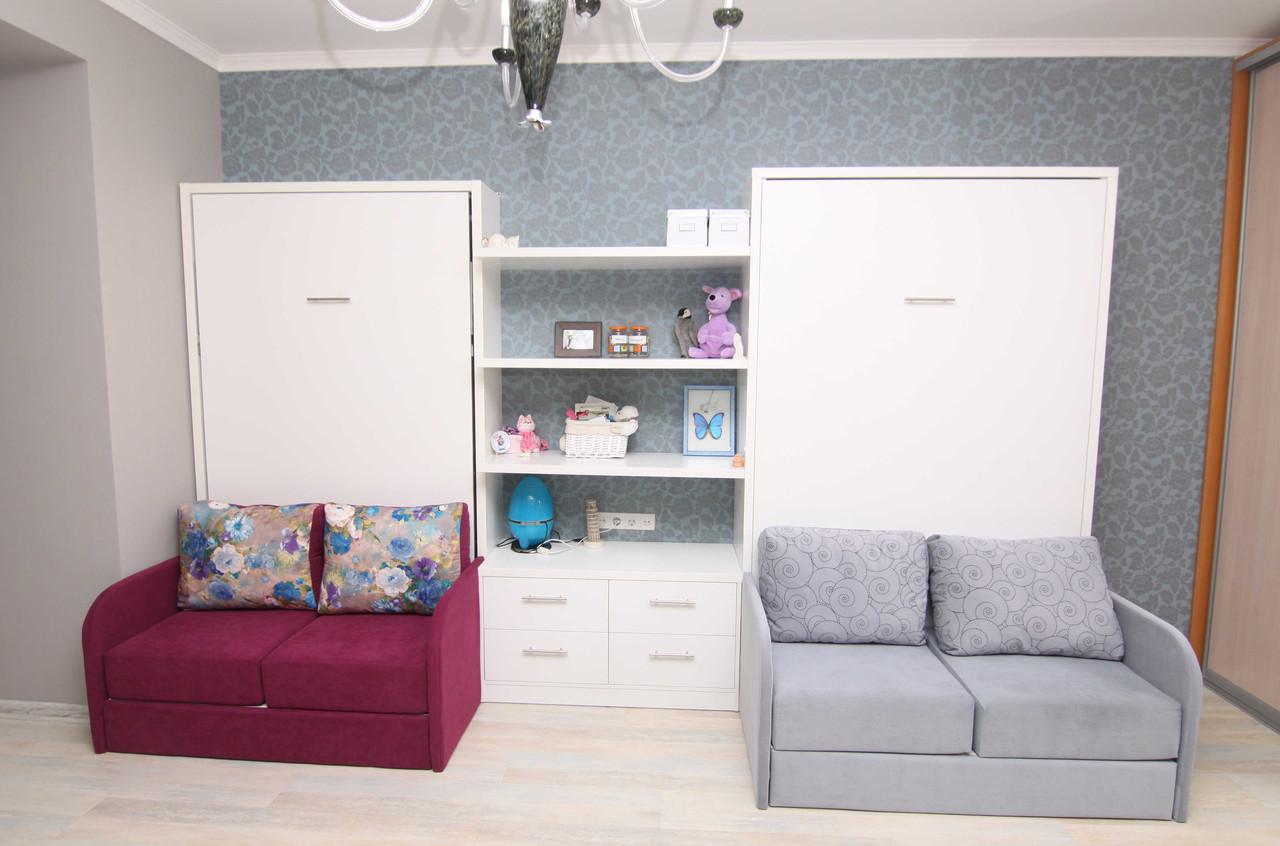 шкаф кровать трансформер в детскую с диванами и комодом цена 20 500