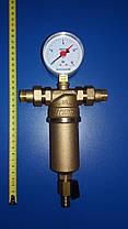 Самопромывной фильтр ICMA 1/2`` (манометр+штуцера), фото 3